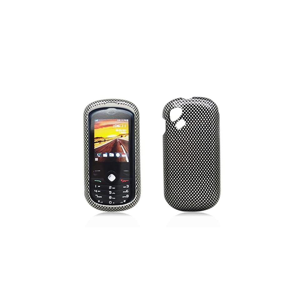 Black Carbon Fiber Print Hard Cover Case for Alcatel One Touch OT 606A 606 Cell Phones & Accessories