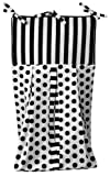 Tadpoles Damask Diaper Stacker, Black/White