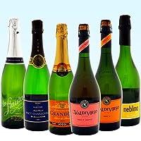 (ワイン飲み比べセット) 世界の辛口スパークリングワイン飲み比べ6本セット