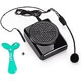 Aker MR1505 - Amplificador para auriculares con micrófono, negro