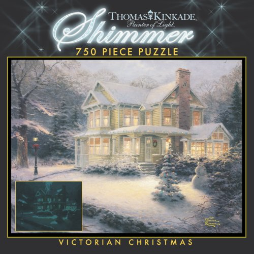 750 Piece Thomas Kinkade Shimmer-Victorian Christmas