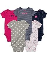 Carter's Baby Girls' 5-Pack S/S Bodysuits