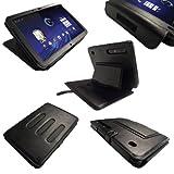 igadgitz 'Guardian' Napa Leder Tasche Schutzhülle Etui Case Hülle in Schwarz für Motorola Xoom Android Tablet mit integriertem Stand