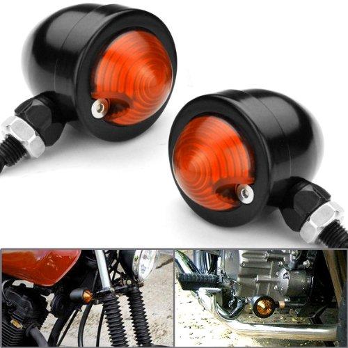 2X Custom Black Anodized Billet Aluminum Bullet Shape Panhead Turn Signal Light Mounting For Harley Dyna Softail Xl Sportster Super Glide V-Rod front-744146