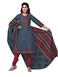DARPAN TEXTILES Ethnicwear Women's DressMaterial(Grey_Free Size)