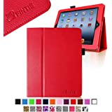 Fintie (Red) Folio Leather Case Cover for iPad 4th Generation With Retina Display, the New iPad 3 & iPad 2 (Built-in magnet for sleep / wake feature)-9 color options