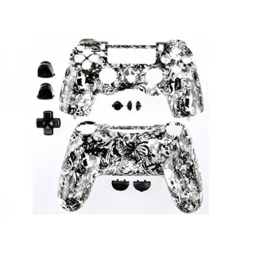 Third Party - Coque Manette Playstation 4 - Skull Grave Black - 3700936102072