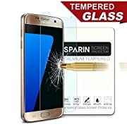 [2 Pack] Galaxy S7 Screen Protector, SPARIN® [Tempered Glass] [Bubble-Free] [9H Hardness] [Scratch-resistant] Screen Protector for Samsung Galaxy S7, [Lifetime Warranty]