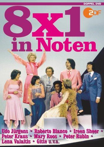 8x1 in Noten - Schlager, Evergreens und Musical-Melodien (2DVDs)