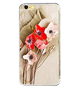 Fuson Premium Floral Art Metal Printed with Hard Plastic Back Case Cover for Apple iPhone 6 Plus