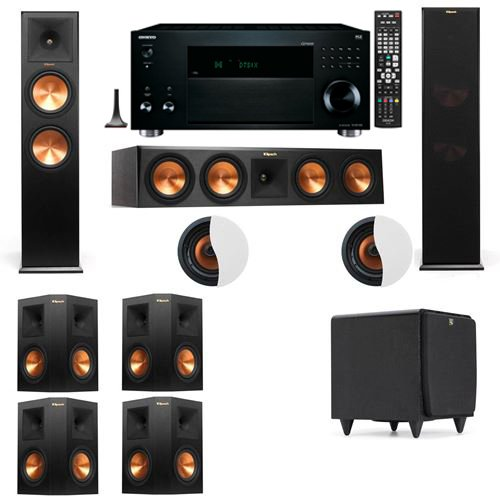 dolby-atmos-712-klipsch-rp-280f-tower-speakers-sds12-with-onkyo-tx-rz3100