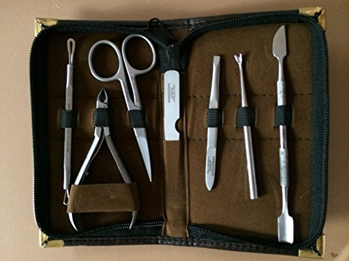 Pedicure / Manicure Set Nail Clippers Cuticle Clippers Grooming Kit Case Magnum