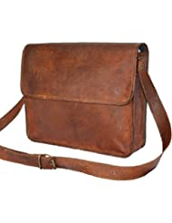 Pranjals House Vintage Handmade Brown Genuine Leather Laptop Messenger Sling Bag
