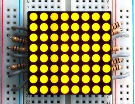 "1.2"" 8X8 Yellow-Orange Led Matrix"