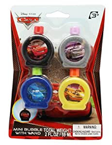 Disney cars mini bubble with wand toys games for Mini bubble wands