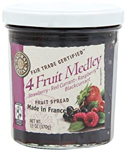 Natural Nectar Fruit Spread, 4 Fruit Medley, 13-Ounce (Pack of 6)