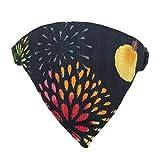 Nekosodate Hanabi Fireworks Bandana Cat Collar, Black, Break-away, 8.6-11.4inch -Handmade in Japan