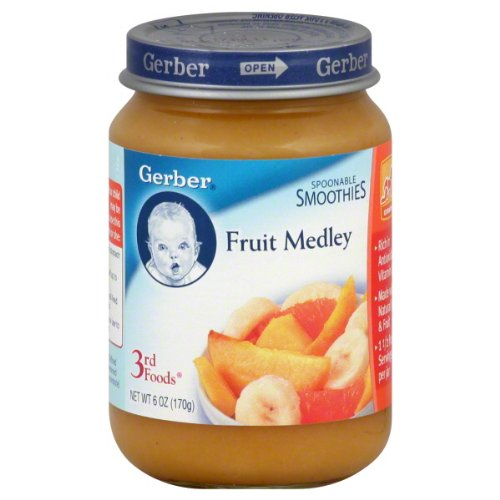 Gerber 3Rd Foods Spoonable Smoothie Fruit Medley Nature Select 6 Packs 6 Oz Jars front-261974