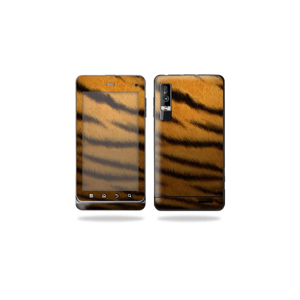 Protective Vinyl Skin Decal Cover for Motorola Droid 3 Android Smart Phone Cell Phone Sticker Skins   Tiger