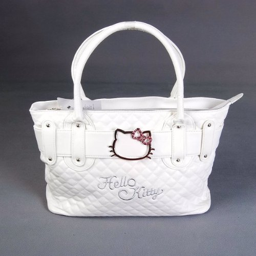 Hello Kitty Handbag Tote Shoulder Hand Bag White