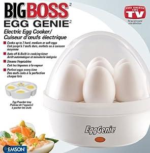 Big Boss 8095 Egg Genie Electric Egg Cooker (White)