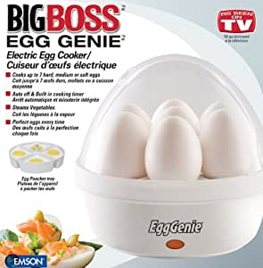 Big Boss 8095 Egg Genie Electric Egg Cooker (White)