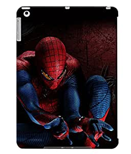 Fuson Spiderman Back Case Cover for APPLE IPAD AIR - D3693