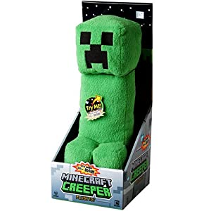"""Mojang Official Minecraft Creeper Plush with Sound by Jinx, 14"""" Large from Mojang"""