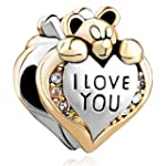 Pugster Heart I Love You Bear Clear B...
