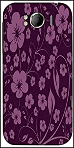 Snoogg Seamless Floral Pattern Abstract Background Designer Protective Back Case Cover For HTC Sensation Xl