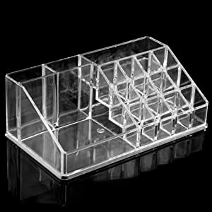 Cosmetics Organizer Clear Acrylic Makeup Holder Large Display Case Drawer