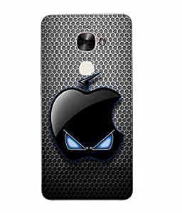 Snazzy Logo Printed Black Hard Back Cover For Letv Le Eco Le 2