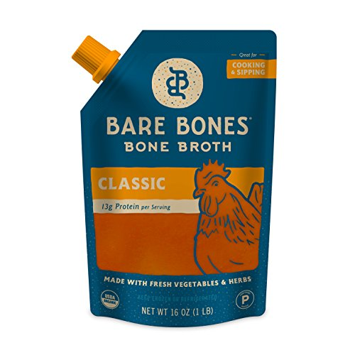 Bare Bones Broth Co. Organic Chicken Bone Broth Made from 100 Percent Pasture-Raised Chickens - 6-pack (Paleo Chicken Broth compare prices)