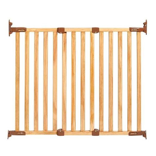Kidco Angle Mount Safeway Gate - Wood (Oak) - 1