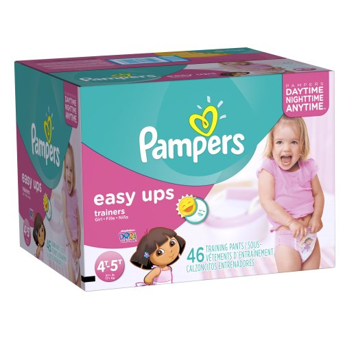 Pampers Easy Ups Girls Size 4T5T Big Pack 46