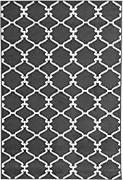 Sweet Home Stores Clifton Collection Light Grey Moroccan Trellis Design (7\'10\