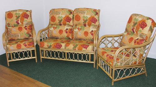Cane Conservatory Furniture CUSHIONS ONLY full suite,