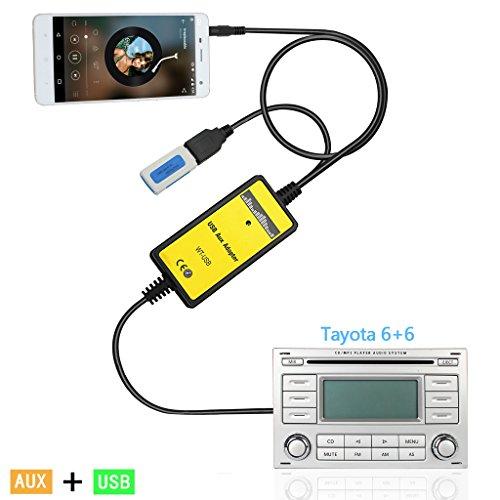 kmfeel-car-radio-mp3-wma-usb-music-adapter-auxiliary-audio-interface-for-toyota-6-6-pin-corolla-rav4