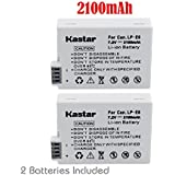 2 Pack LP-E8 LPE8 Equivalent Battery for Canon EOS Rebel 550D, Rebel T2i