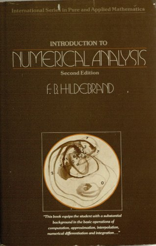 Introduction to Numerical Analysis (Pure & Applied Mathematics) PDF