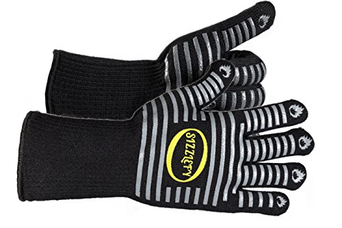 Learn More About Sizzlefy BBQ Gloves - Extreme Heat - resistant Gloves for Kitchen Cooking and Grill...