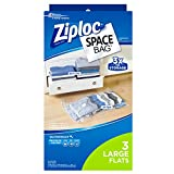 Ziploc Space Bag, Flat, Large, 3 Count