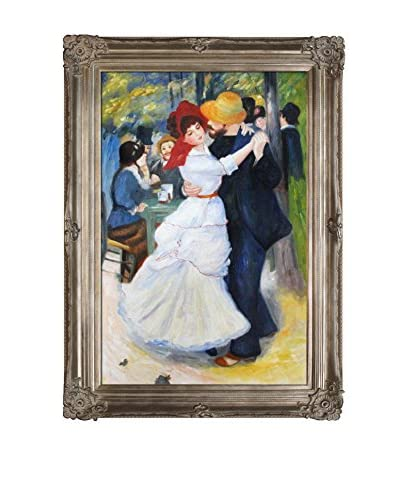 Pierre Auguste Renoir's Dance At Bougival Framed Hand Painted Oil On Canvas