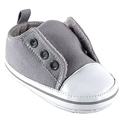 Luvable Friends Laceless Sneaker, Gray, 0-6 months