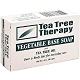 Tea Tree Therapy: Vegetable Base Soap Bar, Tea Tree Oil, 3.5 oz