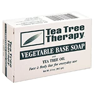 Tea Tree Therapy: Vegetable Base Soap Bar, Tea Tree Oil, 3.5 oz