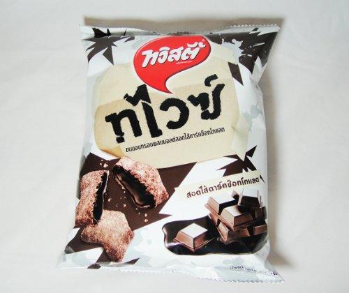 Thai Twistie Malt Snack Stuffing Dark Chocolate 63g