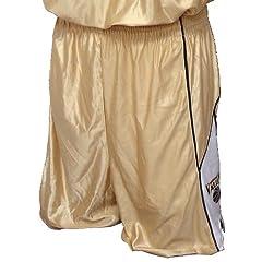 Adult Dazzle Short XXL - Dark Green Vegas Gold White - Basketball