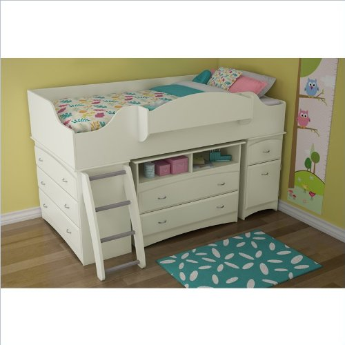 South shore imagine collection twin loft bed kit pure for White beds for sale