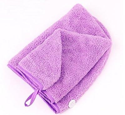 G2Plus Sweet Superfine Fiber Soft Coral Fleece Hair Dry Hat Cap Towel Bath Hair Towel Wrap
